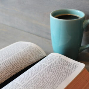 Bible and a cup of coffee